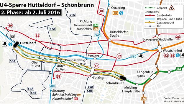 Generalsanierung Sperre Der U4 Bis Schönbrunn Ausgeweitet Oe3orfat