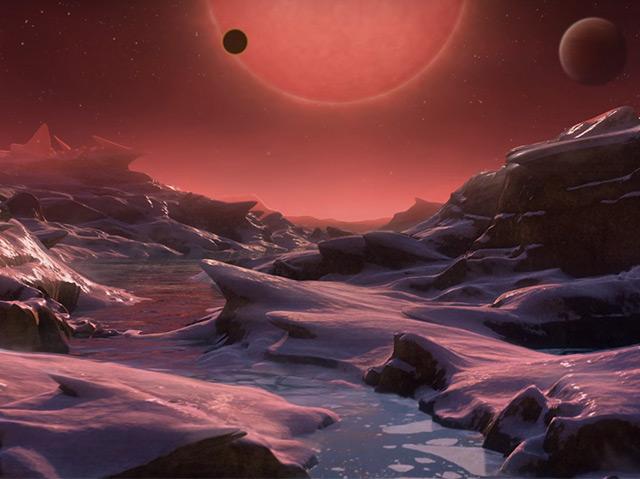 Planet und Brauner Zwerg - künstlerische Darstellung