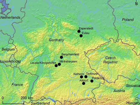 Frühzeitliche Karte