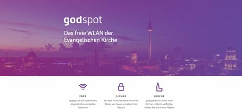 Godspot in evangelischen Kirchen