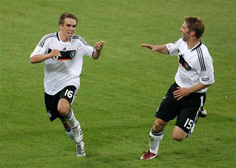 Fußball: Deutsche Nationalspieler beim Torjubel