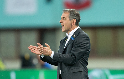 Teamchef Marcel Koller im Ernst Happel-Stadion