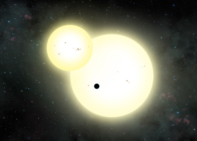 Exoplanet mit zwei Sonnen