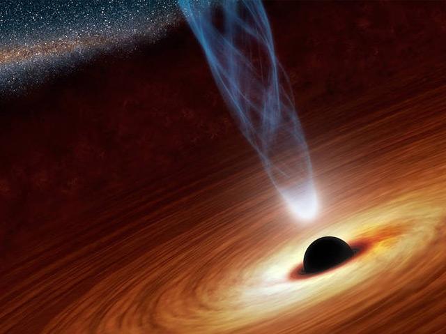 Künstlerische Darstellung eines Schwarzen Loches