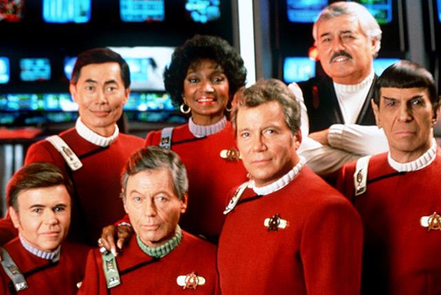 Die Crew des Raumschiff Enterprise in Originalbesetzung, Archivfoto aus dem Jahr 1992