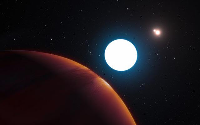 Planet HD 131399Ab mit seinen drei Sonnen