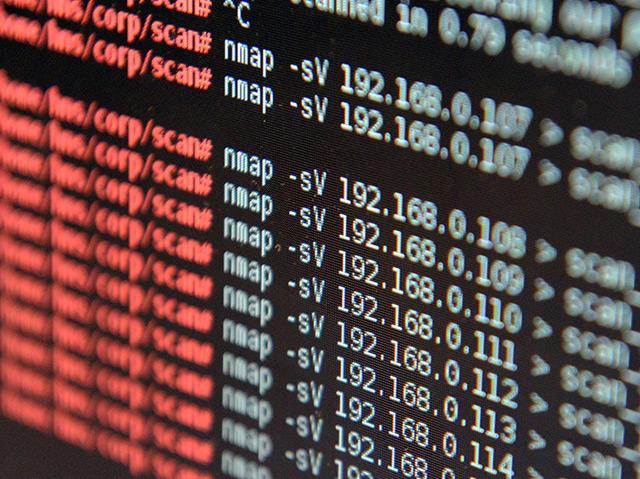 Computerbildschirm, auf dem zahlreiche IP-Adressen von Internetverbindungen stehen