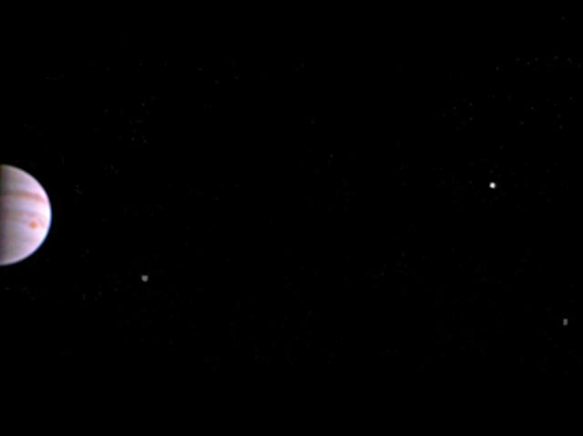 Das erste Bild des Jupiters von Juno