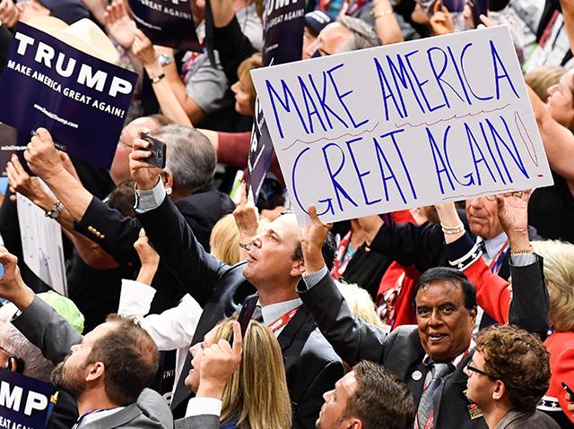 Anhänger von Donald Trump bei der Convention der Republikaner in Cleveland im Juli 2016