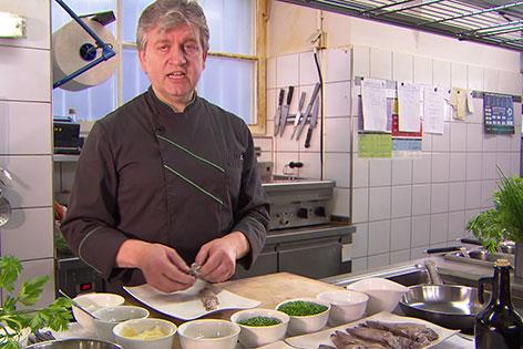 Hubert Posch in der Küche des Restaurants Triangel