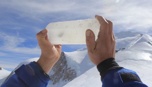 Ein Stück Gletschereis