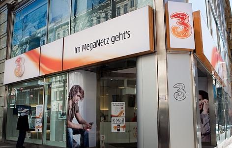 Drei-Shop in der Wiener Mariahilfer Straße