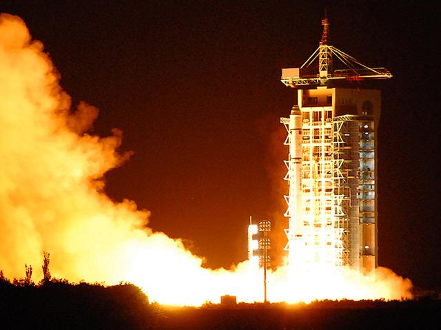 Start des Quantensatelliten Micius in China am 16.8.2016
