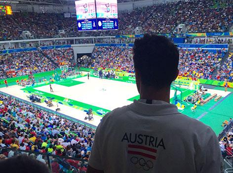 Basketballspiel in Rio