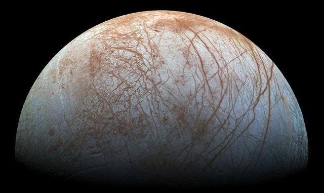 Jupitermond Europa, aufgenommen mit der Galileo-Raumsonde der NASA