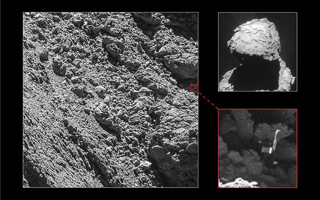 Lander Philae auf dem Kometen Tschuri