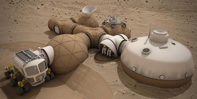 Modell für Behausungen auf dem Mars