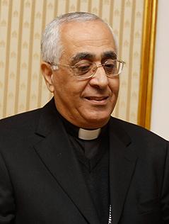 Der katholische Patriarchalvikar für Jordanien, Erzbischof Maroun Lahham