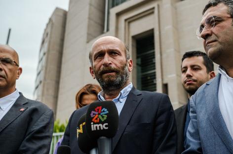 Erdem Gul, Bürochef von Cumhuriyet in Ankara nach einer Gerichtsverhandlung am 21. September
