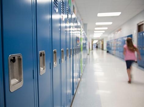 Spinde in einer Schule