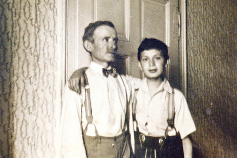 """Siegfried Ramler mit seinem Vater in Wien vor dem """"Anschluss"""""""