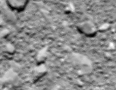 Oberfläche des Kometen Tschuri