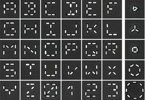 Alphabet im Nanoformat