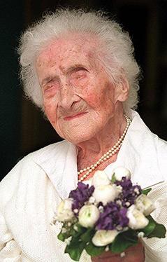 Jeanne Calment, die bislang älteste Frau der Welt