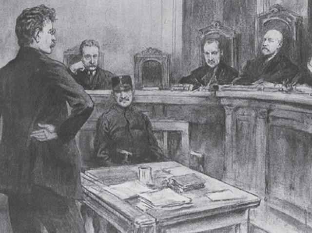 Friedrich Adler beim Prozess