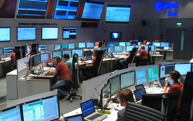 Im ESOC-Kontrollraum