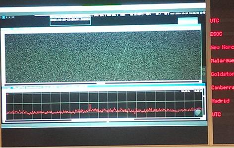 Kontrollmonitor zeigt das Signal