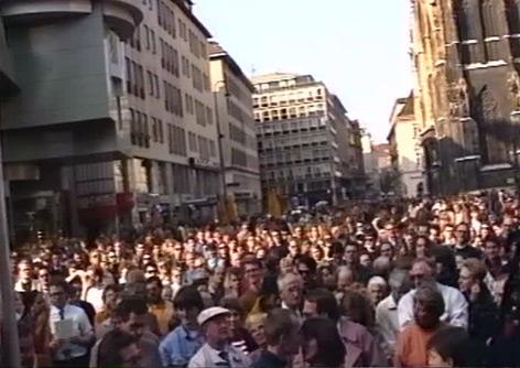 Privataufnahme Mediathek Menschen am Stephansplatz