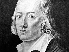 Zeitgenössische Darstellung des Schriftstellers und Dichters Johann Christian Friedrich Hölderlin (undatiert)