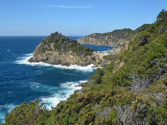 Inselgruppe Île de Porquerolles vor der französischen Mittelmeerküste