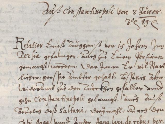 Faksimile einer Fuggerzeitung von 1569