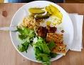 vegetarisches Essen auf einem Teller