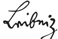 Schriftzug von Leibniz
