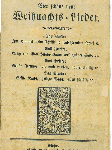 Das Cover eines Liederbuchs Anfang 19. Jahrhundert