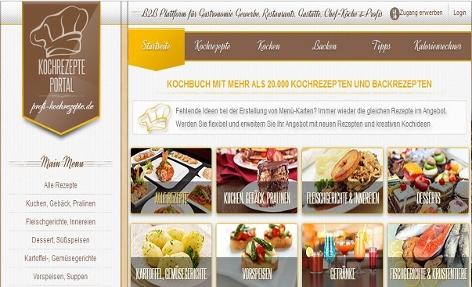 Homepage einer Abogfalle mit Kochrezepten