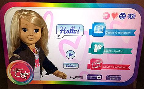 """Screenshot der """"Cayla""""-App"""