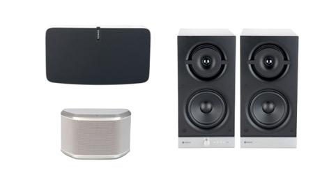 Produktbilder der Top-3 WLAN-Lautsprecher im VKI-Test