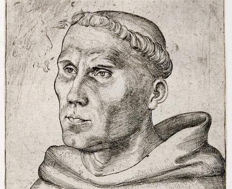 Martin Luther als junger Mönch, Lucas Cranach der Ältere, 1520