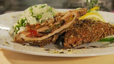 Wagrainer Schnitzel mit Kürbiskernpanier Rezept Wagrain