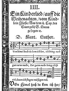 """""""Vom Himmel hoch"""" von Martin Luther, Druck von 1567"""