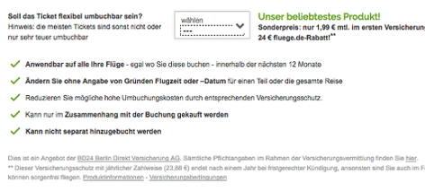 Screenshot fluege.de