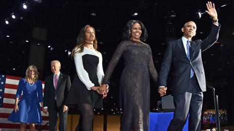 Barack Obama und seine Familie