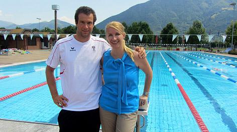 Claudia Stöckl mit Markus Rogan