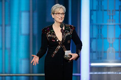 Meryl Streep nimmt im Rahmen der Golden Globes den Cecil B. DeMille Award entgegen