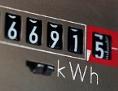 Anzeige von verbrauchten Kilowattstunden auf einem Stromzähler