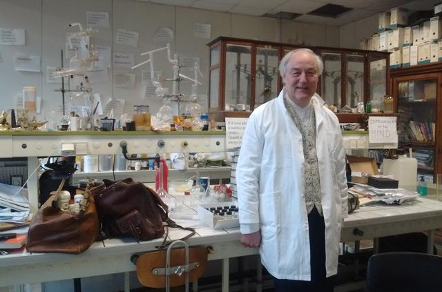 Hervé This in seinem Labor